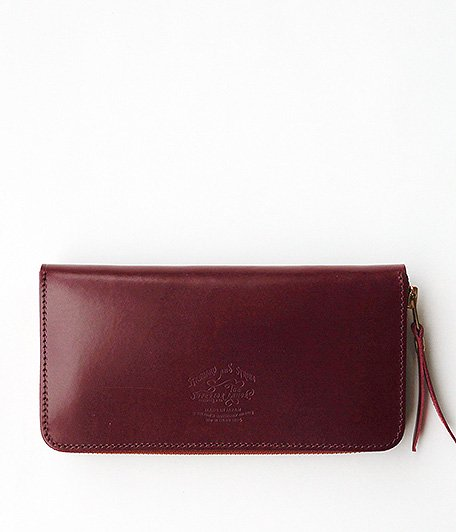 THE SUPERIOR LABOR Bridle Zip Long Wallet [BURGUNDY]