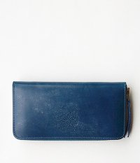 THE SUPERIOR LABOR Bridle Zip Long Wallet [BLUE]