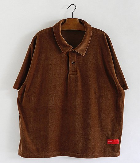 VOO Velour Relax Polo [CAMEL]