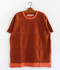 CURLY AZTEC JAQ DS TEE [ORANGE]