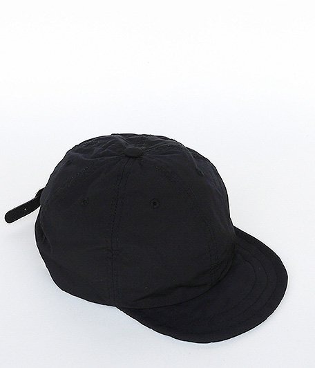ANACHRONORM Nylon Leather Buckle Cap [BLACK]