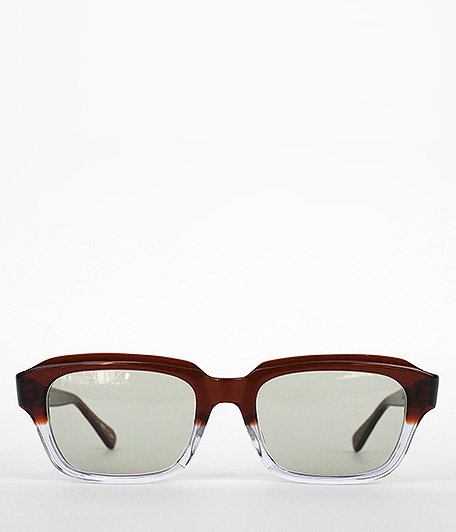Buddy Optical YALE SG [BROWN HALF / GREEN LENS]
