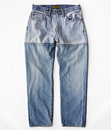 HURRAY HURRAY composition Patchwork Denim Pants [INDIGO]