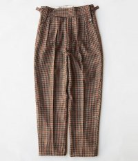 NEAT Wool Gun Club Check Beltless [BROWN]