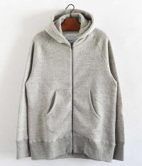 CURLY RAFFY ZIP PARKA [GRAY]