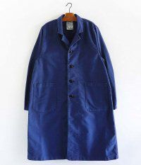 H.UNIT STORE LABEL Moleskin long atelier coat [BLUE]