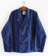 H.UNIT STORE LABEL Moleskin dolman euro work jacket [BLUE]