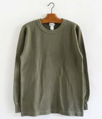 BETTER HONEYCOMB CREW NECK L/S  T-SHIRT [SAGE GRAY]