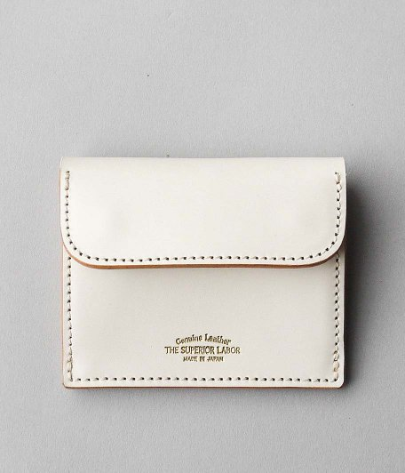 THE SUPERIOR LABOR Bridle Coin Pocket [WHITE]