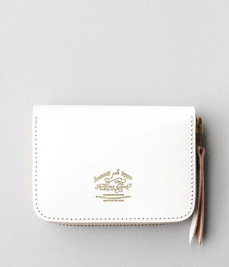 THE SUPERIOR LABOR Bridle Zip Small Wallet [WHITE]