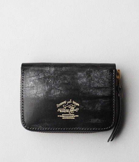 THE SUPERIOR LABOR Bridle Zip Small Wallet [BLACK]