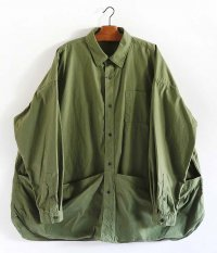 Fresh Service Tool Pocket Regular Collar Utility Shirt [KHAKI]