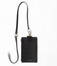 KAIKO Leather Neck Bag M [BLACK]