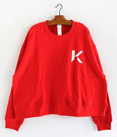 KAIKO OBLONG SWEAT [RED]