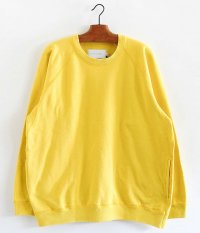 CURLY FROSTED CREW SWEAT [YELLOW]