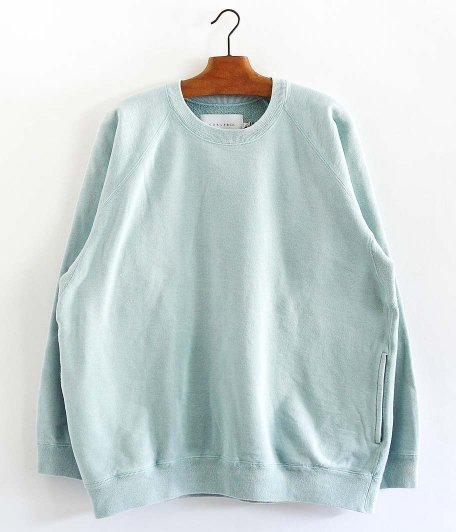 CURLY FROSTED CREW SWEAT [LT.BLUE]