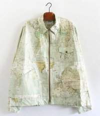 H.UNIT Tyvec world map zip work jacket [WORLD MAP]
