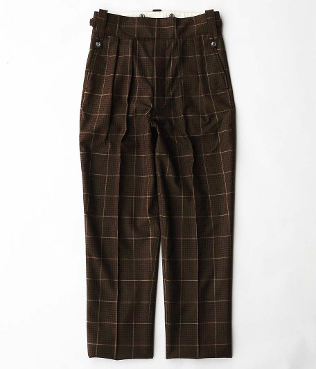 NEAT Fox brothers Check Beltless [BROWN]