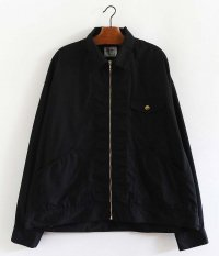 H.UNIT STORE LABEL T/C Poplin Zip Work Jacket [BLACK]