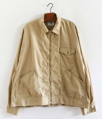 H.UNIT STORE LABEL T/C Poplin Zip Work Jacket [BEIGE]
