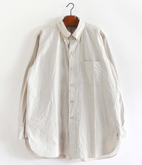 KAPTAIN SUNSHINE Big Button-down Shirt [BROWN PINSTRIPE]