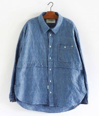 ANACHRONORM 5oz Re Size Shirt L/S [INDIGO]