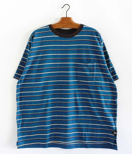 CORONA MULTI STRIPE POCKET TEE [BLUE]