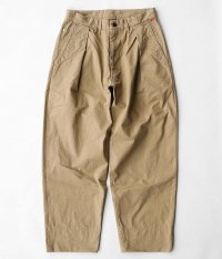 ANACHRONORM Standard Tuck Wide Trousers [BEIGE]