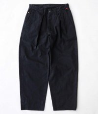 ANACHRONORM Standard Tuck Wide Trousers [BLACK]