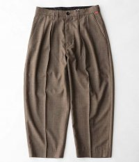 ANACHRONORM Wool Ankle Tuck Wide Trousers [BROWN]
