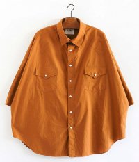 H.UNIT Typewriter Western Dolman Short Sleeves Shirt [Nuts]