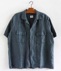NECESSARY or UNNECESSARY TWO POCKET SHIRT LINEN [JADE]