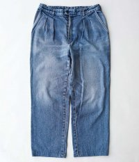 Customized by RADICAL Denim Tuck Trousers [INDIGO]