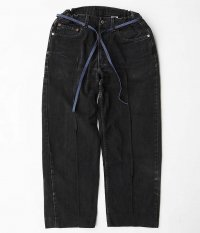 Customized by RADICAL Stitch Press EZ Denim Pants [BLACK]