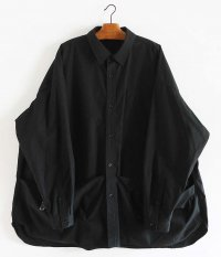Fresh Service Tool Pocket Regular Collar Utility Shirt [BLACK]