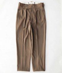 NEAT Wool Hight Density Gabardine Beltless [CAMEL]
