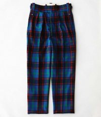 NEAT Wool Multi Check Beltless [BLUE MULTI]