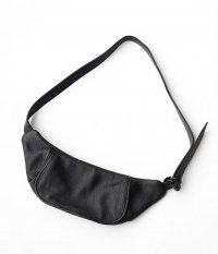 KAPTAIN SUNSHINE Leather Funny Bag [BLACK]