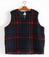 NECESSARY or UNNECESSARY Vest Check [RED × NAVY]