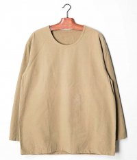 Customized by RADICAL Vintage Fabric Crew Neck P/O Shirt [BEIGE]