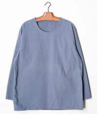 Customized by RADICAL Vintage Fabric Crew Neck P/O Shirt [BLUE GRAY]