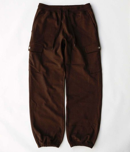 tone BASIC CARGO SWEAT PANTS [BROWN]