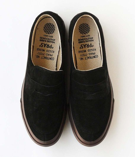 PRAS COMFY LOAFERS [BLACK / BROWN SOLE]