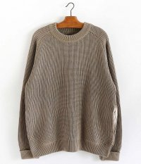 CURLY AZTEC CN SWEATER [SMOKED BEIGE]