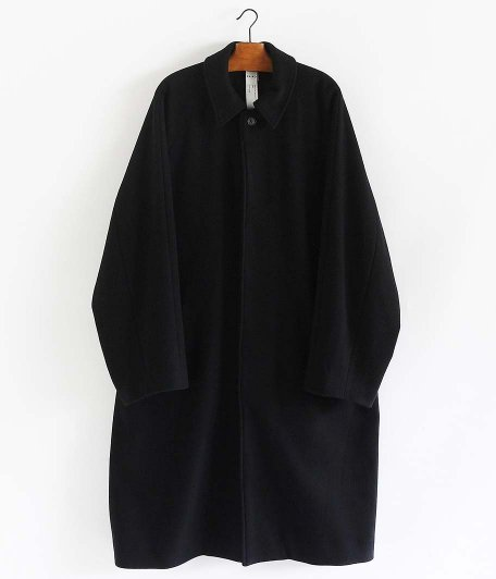 KAIKO LARGER SOUTIEN COLLAR COAT [BLACK]