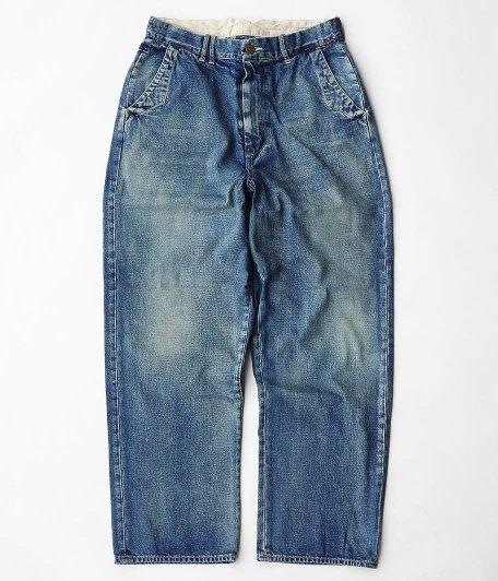 ANACHRONORM Denim Wide Trousers [INDIGO AGING WASH]