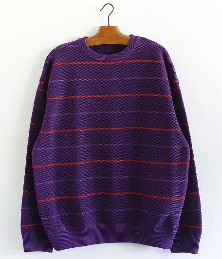 crepuscule Moss Stitch Border L/S Sweat [PURPLE]