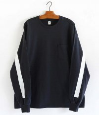 KAPTAIN SUNSHINE West Coast L/S Tee [DARK NAVY × WHITE LINE]