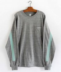 KAPTAIN SUNSHINE West Coast L/S Tee [FETHERGREY × MINT GREEN]
