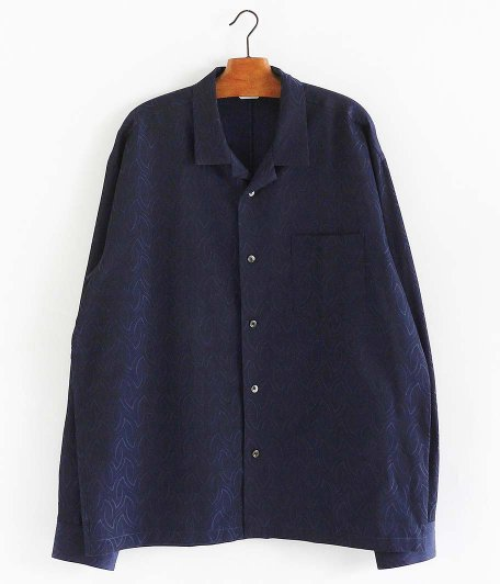 WELLDER Open Collar Shirt [INDIGO]